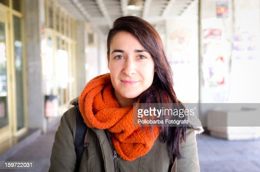 Pretty girl with scarf