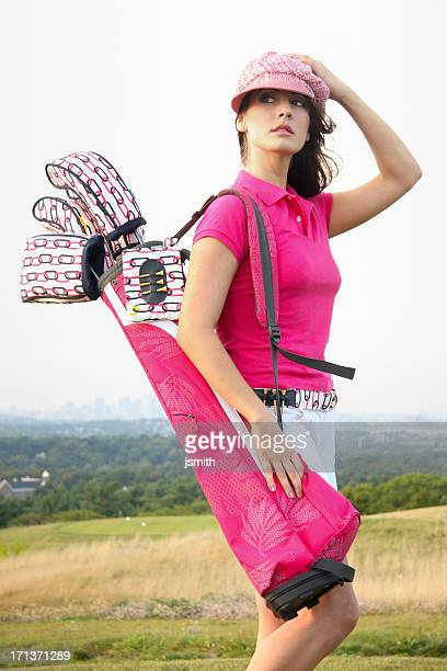 Pretty in pink golfing