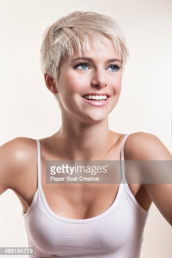 Short Haired Blonde Teen 90