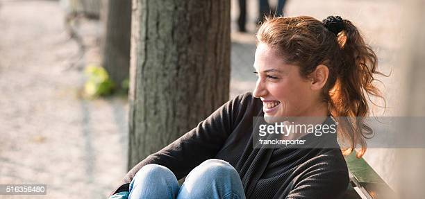 pretty latin brunette woman portrait
