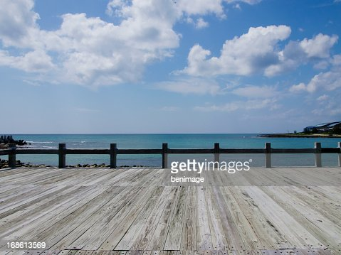 可愛らしいでビーチ桟橋