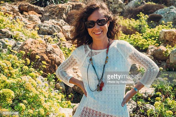 Pretty smiling woman in nature