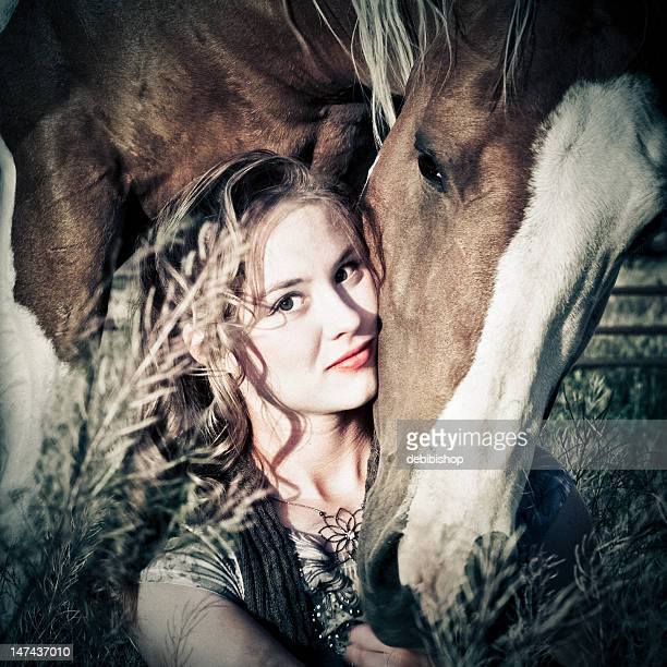 Pretty Woman And Her Horse