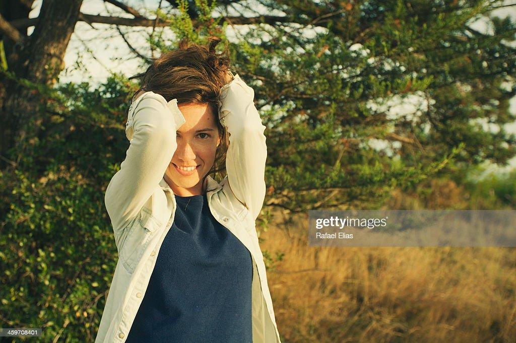 Pretty woman in nature : Stock Photo
