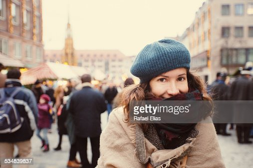 Pretty woman in the street