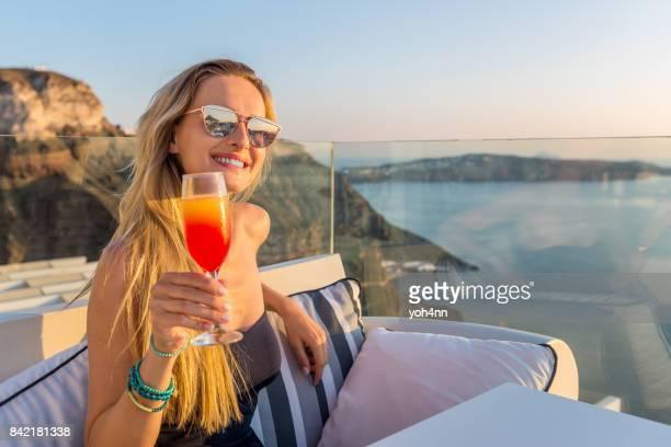 Pretty woman & party drink