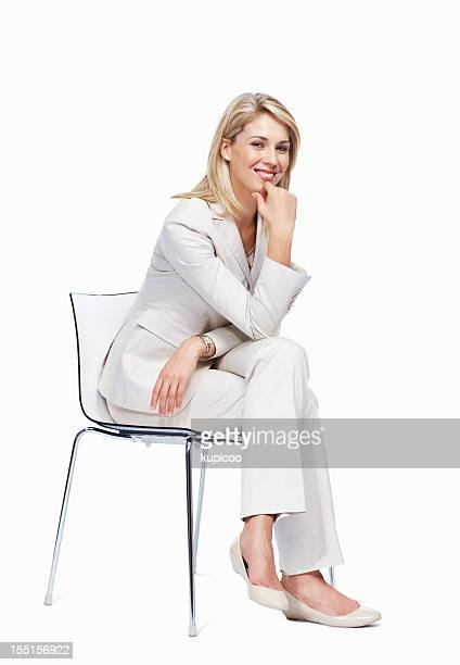 Pretty woman sitting on a chair