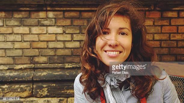 Pretty woman smiling