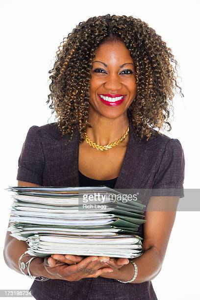 Pretty Woman with Paperwork