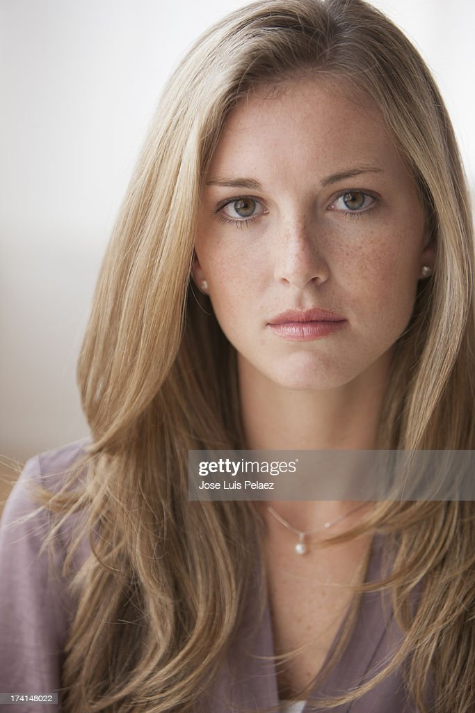 Pretty Young Blonde Woman Stock Photo Getty Images