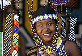 Pretty Zulu girl in beads