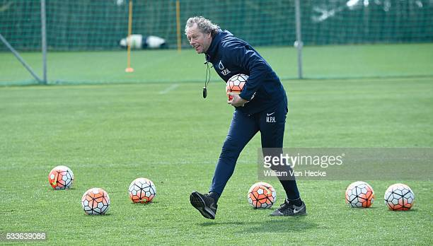 Preud'homme Michel head coach of Club Brugge pictured during practice session in Marbella football center where Club Brugge is on stage from to...