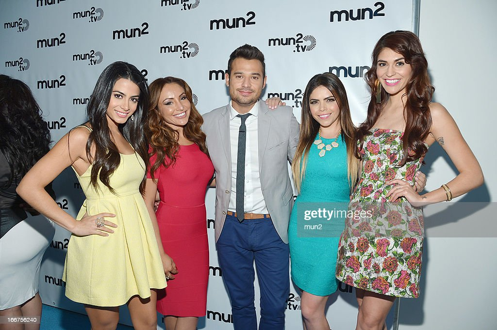 MUN2 - EVENTS -- Pre-Upfront Press Conference -- Pictured: (L-R) Emeraude Toubia, Silvia del Valle, Guad Venegas, Yarel Ramos, and Melissa Barrera. --