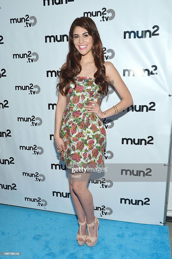 MUN2 - EVENTS -- Pre-Upfront Press Conference -- Pictured: TV personality Melissa 'Crash' Barrera. --