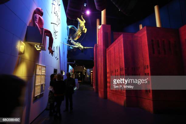 Preview of the Pink Floyd Exhibition Their Mortal Remains at The VA on May 9 2017 in London England The exhibition is an immersive experimental...
