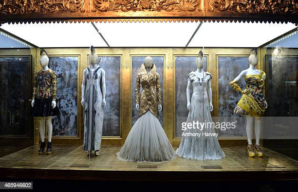 Preview photocall for the 'Alexander McQueen Savage Beauty' exhibition at the Victoria Albert Museum on March 12 2015 in London England