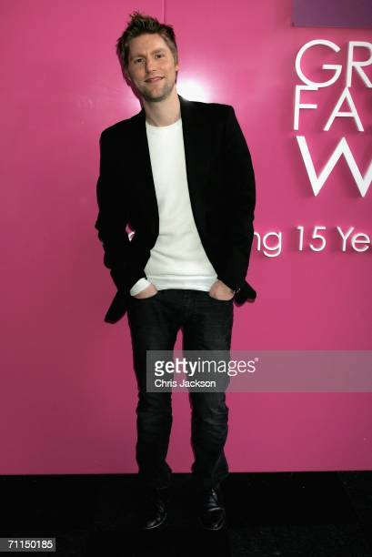 Previous winner of the Gold Award Christopher Bailey is seen at Graduate Fashion Week on June 7 2006 in London England Graduate fashion week gives...