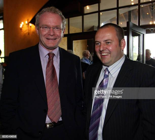 Previously unissued file dated 25th May 2007 Deputy First Minister Martin McGuinness with Padraig Mac Lochlainn Sinn Fein representative for Donegal...
