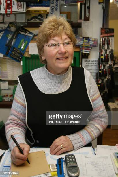 Previously unissued image dated 22/3/07 of Olive Logan in her Ahoghill shop