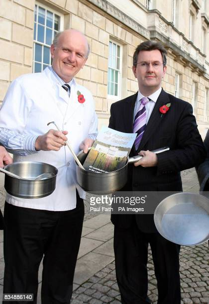 Previously unissued photo dated 11/11/08 of Health Minister Michael McGimpsey left and Junior Minister Jeffrey Donaldson at the launch of an...