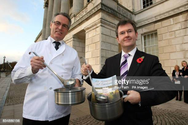 Previously unissued photo dated 11/11/08 of Junior Ministers Gerry Kelly left and Jeffrey Donaldson at the launch of an Assembley cook book at...