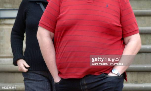 Previously unissued photo dated 12/03/07 of an obese man in Reading A common gene variant found in 16% of the population could be largely responsible...