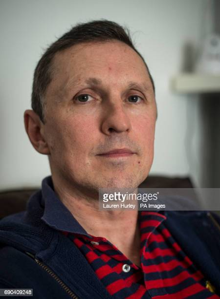 Previously unissued photo dated 12/04/17 of David Welsh at his home in London Mr Welsh who has been diagnosed with Motor Neurone Disease is taking...