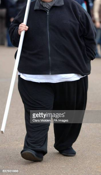 Previously unissued photo dated 180207 of an obese man carrying a stick in London A common gene variant found in 16% of the population could be...