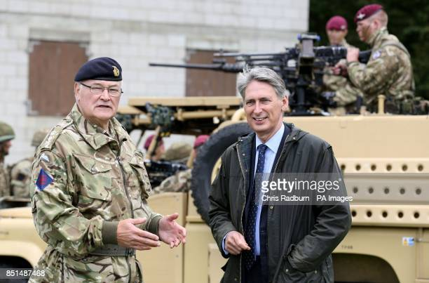 Previously unissued photo of Defence Secretary Philip Hammond and Chief of the General Staff Sir Peter Wall during a visit to Fingringhoe Ranges in...