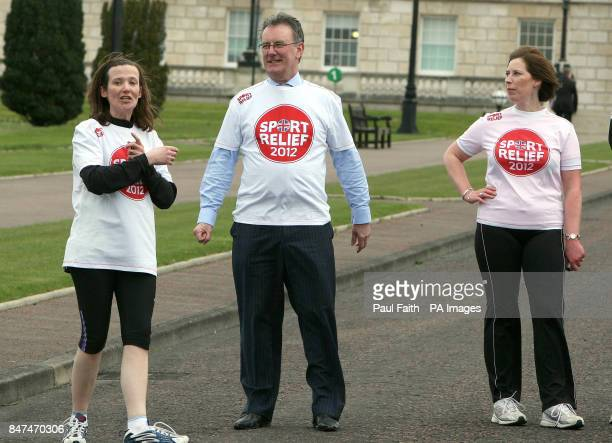 Previously unissued picture dated Tuesday March 20th UUP leadership contender Mike Nesbitt wears a Sport Relief tshirt even though he didn't take...