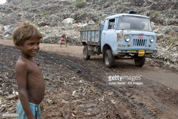 Previously unreleased file image dated June 1 2009 Howrah Dump in Calcutta India during a visit by Irish aid agency Goal The municipal dump at Howrah...