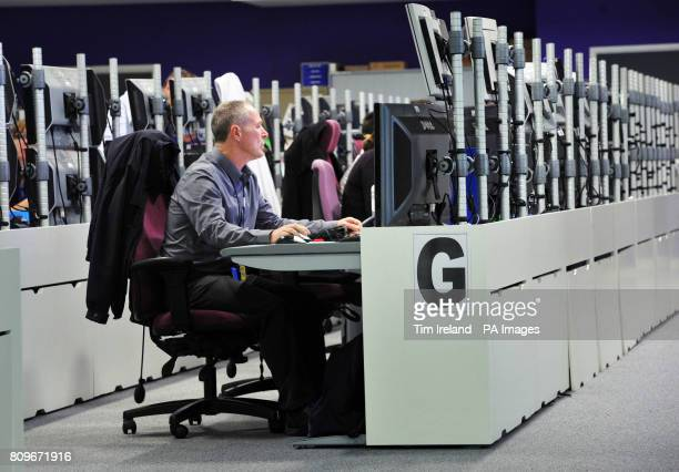 Previously unreleased photo dated 08/09/11 of a view of the Global Operations Security Control Centre which is responsible for protecting the...
