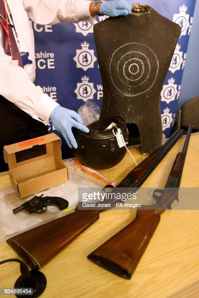Previously unreleased photo of the unlicensed guns which were recovered during the investigation but were not used in the murder of biker Gerry Tobin...