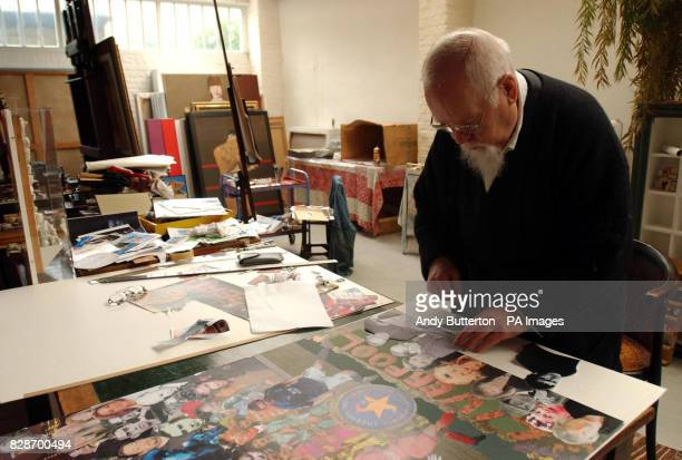 Previously unreleased pictures showing artist Sir Peter Blake with his revamped iconic Sgt Pepper album sleeve which pays homage to Liverpool...