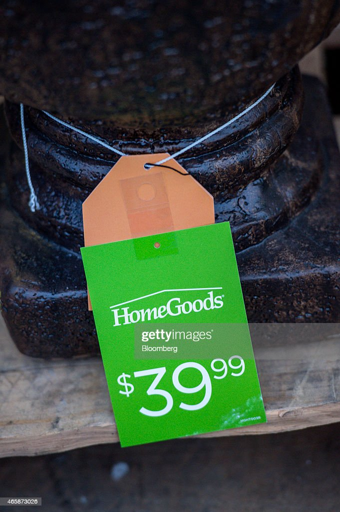 A price tag is displayed on an item for sale at a HomeGoods Inc  store. A HomeGoods Inc  Store Ahead Of Retail Sales Figures Photos and