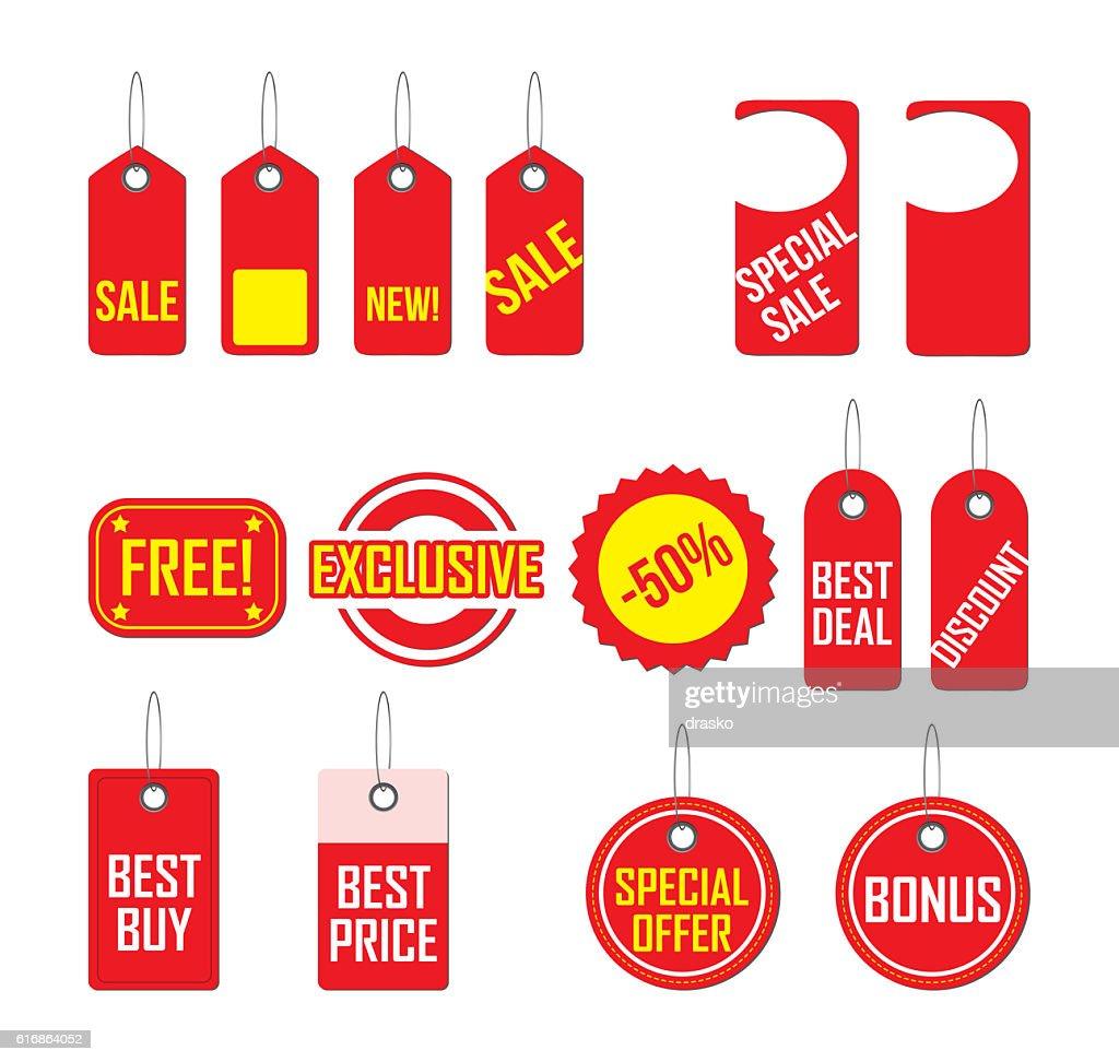 Price tags : Stock Photo