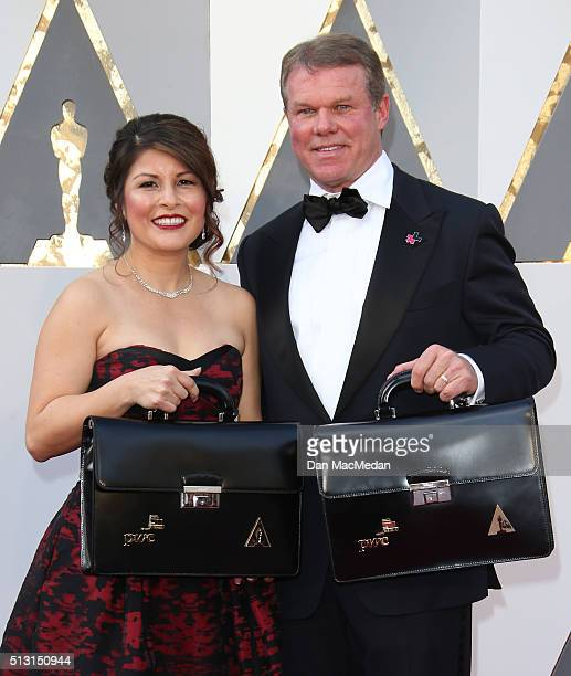 Price Waterhouse and Coopers partners Martha Ruizp and Brian Cullinan attend the 88th Annual Academy Awards at Hollywood Highland Center on February...