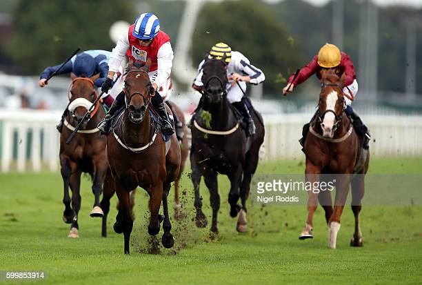 Priceless riden by Silvestre De Sousa wins The VIP Premium Vaping and ELiquids Scarborough Stakes at Doncaster Racecourse on September 7 2016 in...