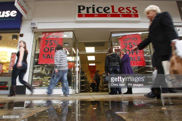 A PriceLess shoe shop in Commercial Road Portsmouth after administrators were appointed to shoe chains Barratts and PriceLess