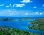 Prickly Pear Island and Necker Island viewed from Virgin Gorda