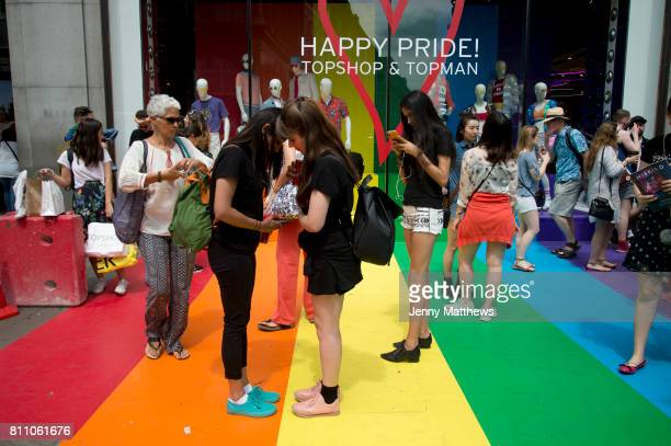 Pride in London formally known as Pride London is an annual LGBT pride festival and parade held each summer in London United Kingdom A crowd gathers...