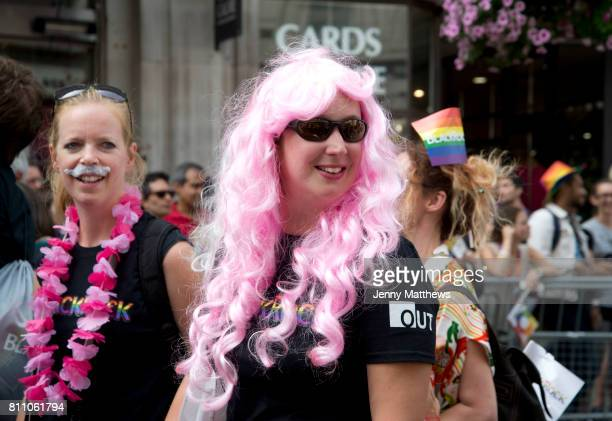 Pride in London formally known as Pride London is an annual LGBT pride festival and parade held each summer in London United Kingdom Two women take...