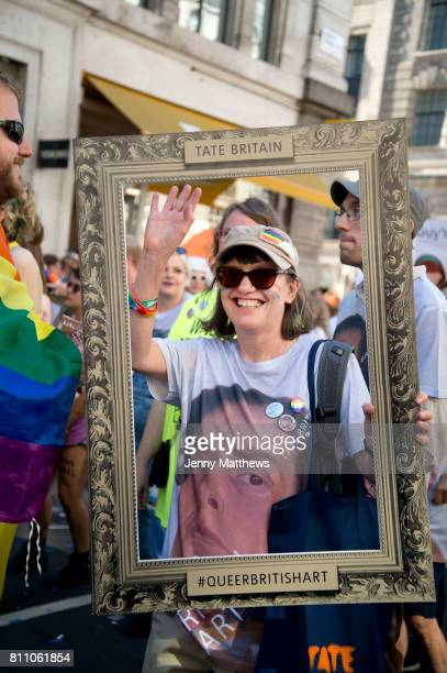 Pride in London formally known as Pride London is an annual LGBT pride festival and parade held each summer in London United Kingdom A woman who is...
