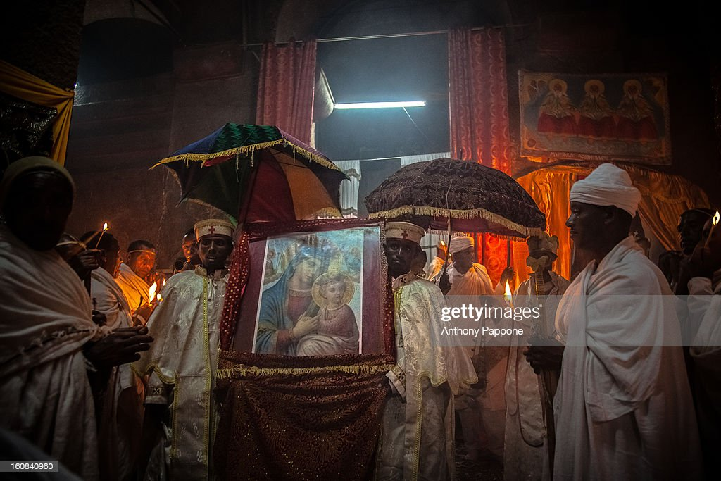 CONTENT] priest and Pilgrims celebrate the fasika(easter) inside the rock-hewn churches of Lalibela. Easter is one of the greatest festivals of the Ethiopian people, celebrated after 55 days of fasting. Devout followers of the Ethiopian Orthodox Church offer daily prayers at the Church and do not eat until 3 PM, except Saturday and Sunday when prayers are conducted early in the morning. Easter always takes place in glorious weather and enormous effort is put into making the occasion memorable.