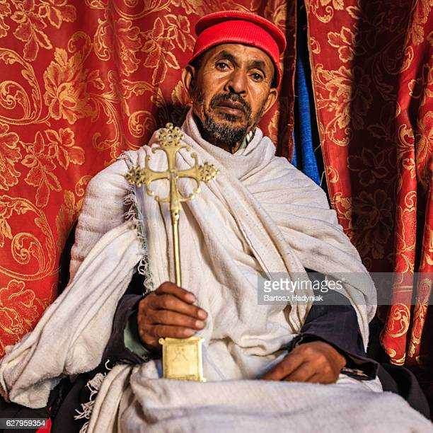 Priest from Church of Saint George, Lalibela. Ethiopia,Africa