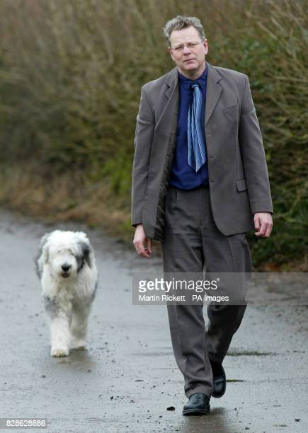 Priest Harry Brown walks his dog Murphy near his home in Crosscrake Cumbria It was revealed that he has lost an appeal against his sacking by the...