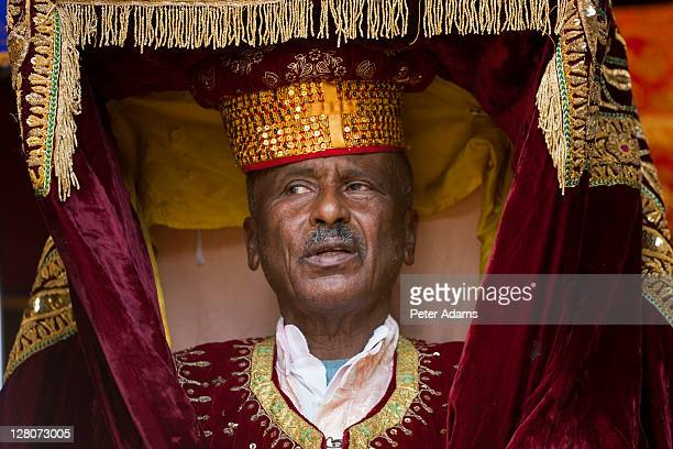 Priest holding replica of The Ark of the Covenant, Timket, celebration of Epithany, Christian Orthodox Church, Addis Ababa, Ethiopia