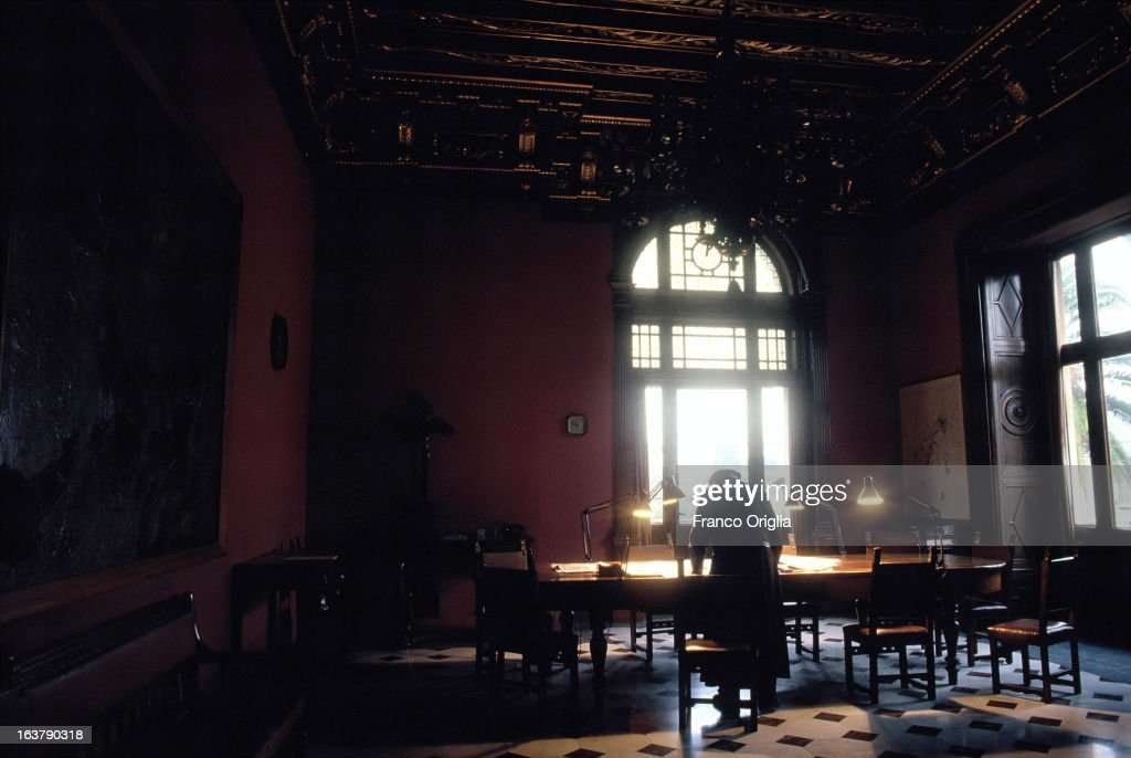 A priest reads in a reading hall in Villa Malta at the seat of the Jesuit magazine Civilta Cattolica in 1991 in Rome, Italy. The Argentinian Cardinal Jorge Mario Bergoglio, was ordained for the Jesuits on 1969 at the Theological faculty of San Miguel and was elected as Pope Francis on March 13, 2013 as the first ever Jesuit Pontiff. The Society of Jesus, founded on 1540 by the Spanish , Ignatius of Loyola's, is a Christian male religious order of the Roman Catholic Church. The society is engaged in evangelization and apostolic ministry in 112 nations and on six continents. Jesuits operate in education (founding schools, colleges, universities and seminaries), intellectual research, and cultural pursuits.