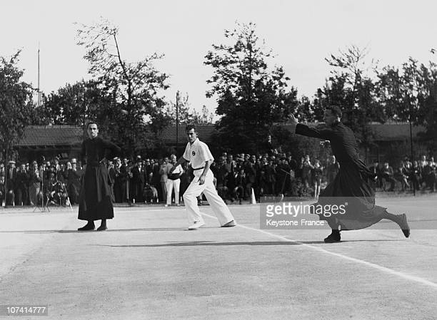 Priests Basque Pelota Match In Paris In 1938