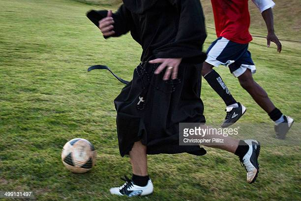 Priests playing football (soccer), Brazil